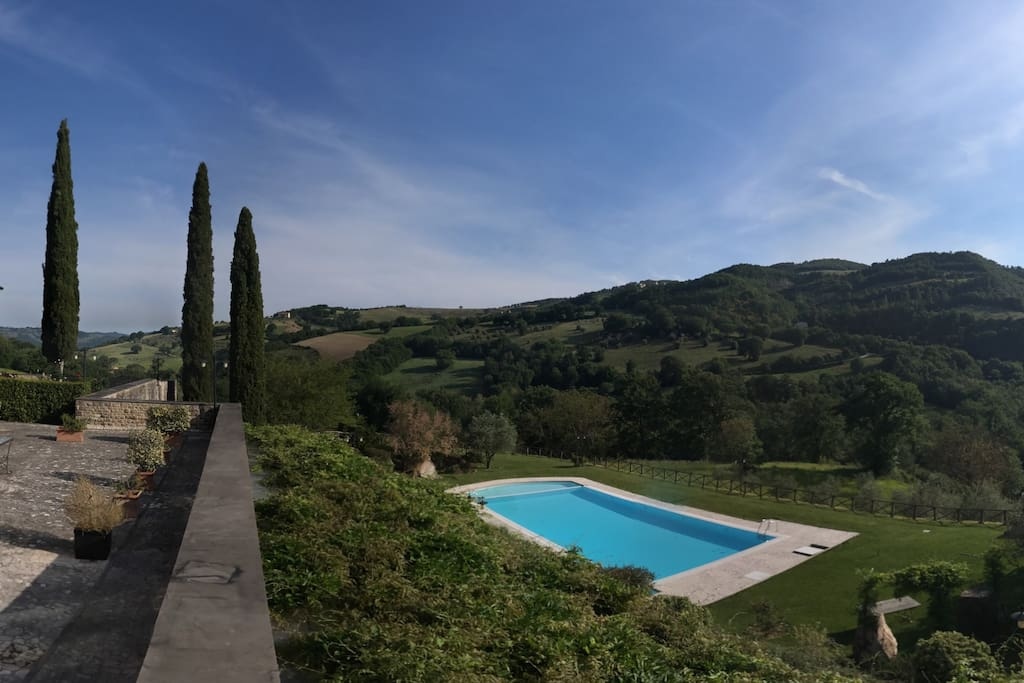 View of the swimming pool from the terrace