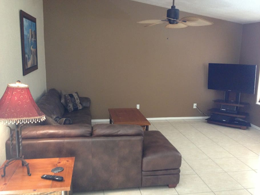 Living room with DirecTV