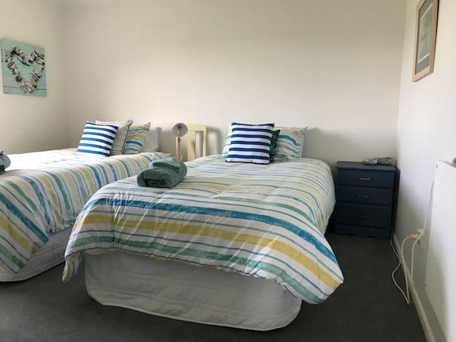 Bedroom 4 - downstairs - 2 king singles