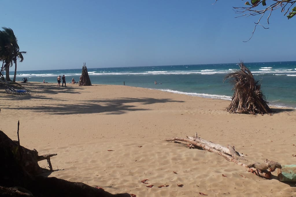 Encuentro Beach is a 5 minute walk away