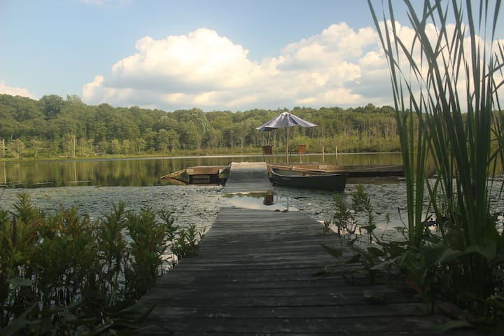 Nature Lovers Retreat with Private Spring-fed Lake - Carmel - Apartamento