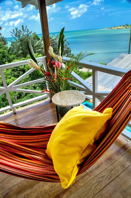 Balcony view hammock