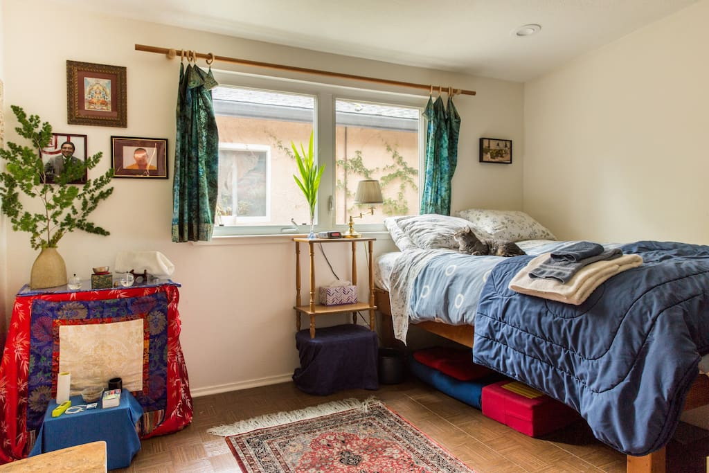 I rent out my bedroom when away for meditation retreats, etc.