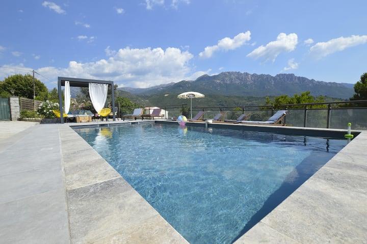 Maison piscine privative à 20 min des plages