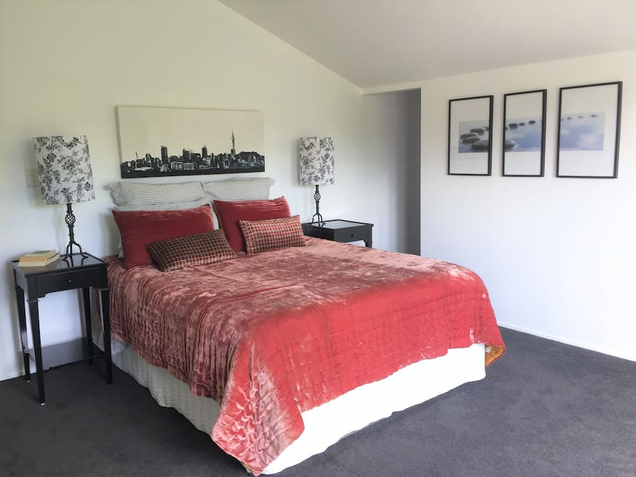 Large master Bedroom includes a walk in wardrobe and ensuite.