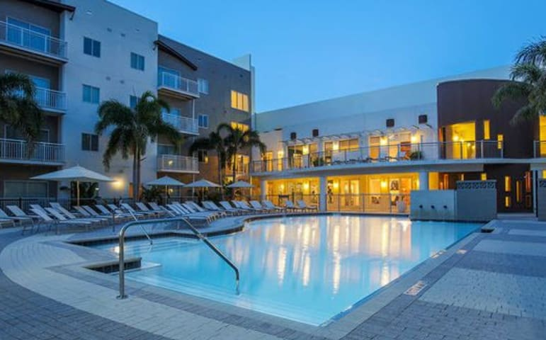 Luxury Tampa Entire Apartment Hot Tub and Pool