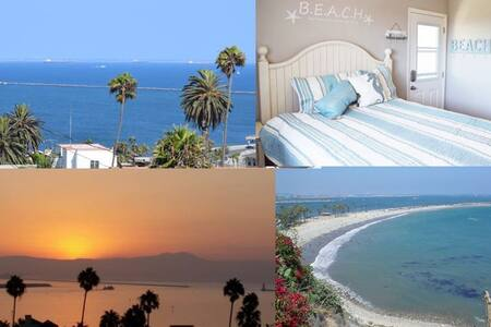Private Entry Beach Area Room & Bath. Ocean views. - Los Angeles - Rumah