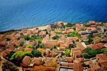 Aerial view of Monemvasia castle