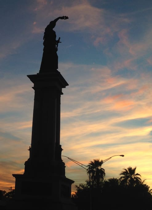 Texas Heroes Monument on Broadway @ 25th. Dedicated on April 21, 1900.