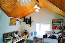 【鱼舍于家】石老人海水浴场崂山风景区附近双层海景复式大套房