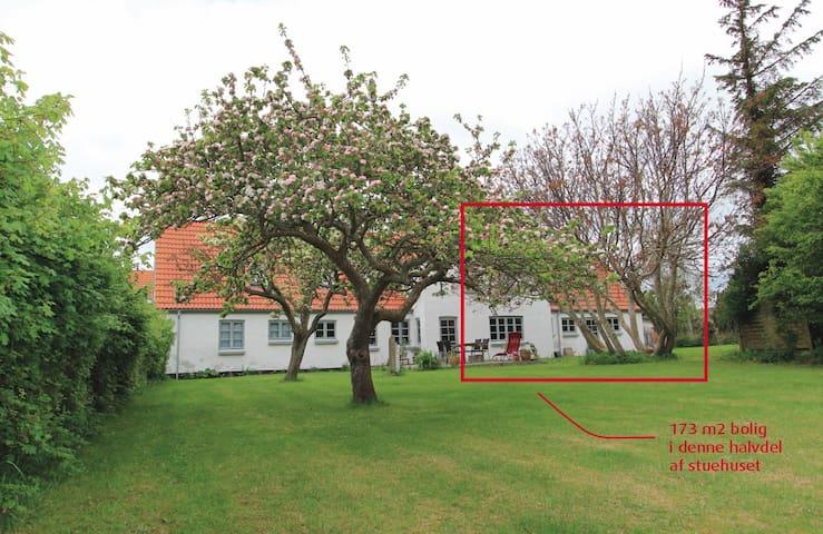 1/2  feriehus tæt på strand, lystbådehavn og natur - Samsø - Casa