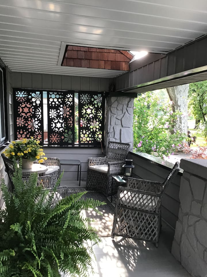 Enjoy a morning coffee on the front porch.