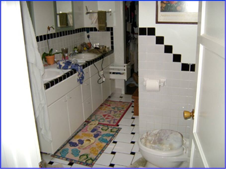 Bathroom includes shower/tub, great water pressure!