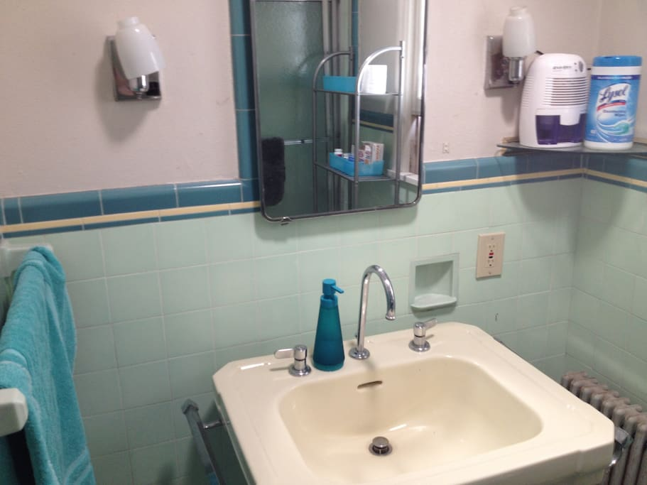 Teal bathroom - 1 of 4 bathrooms available to guests