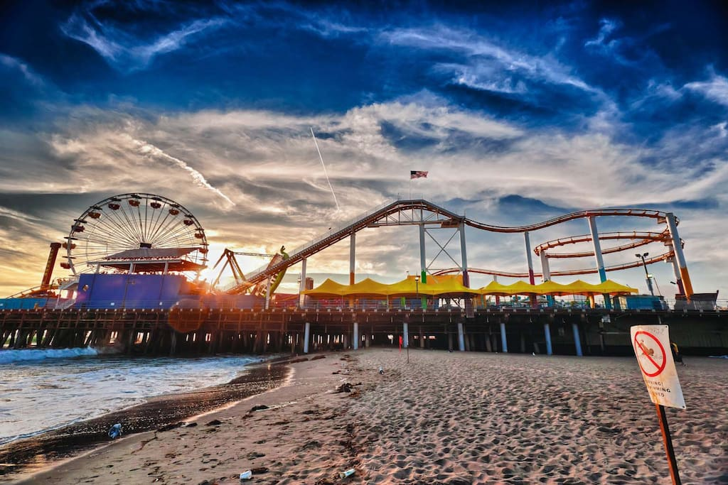 Santa Monica Pier is just a few miles away