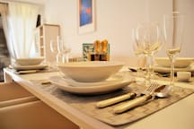 Dinning table and all necessary cutlery