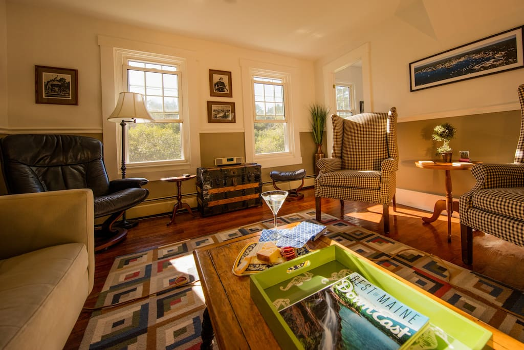 Living room; picture yourself unwinding here... you deserve it!