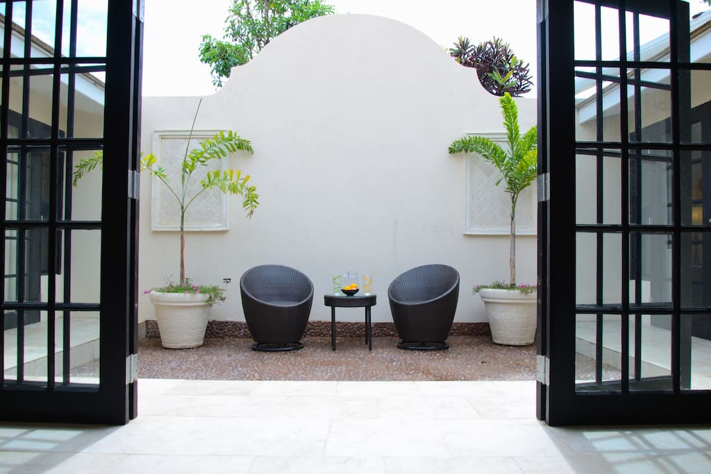 Indoor Courtyard to chill out and catch the morning rays
