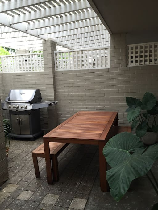 Great outdoor area for barbecues and daiquiris!