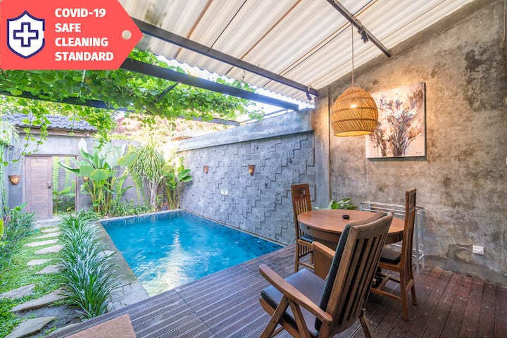 Private Villa with Pool + Kitchen | Central Canggu