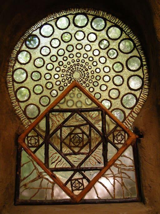 La Ventana de la Eternidad dentro del templo