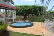 Section of the Terrace with Jacuzzi & Gazebo