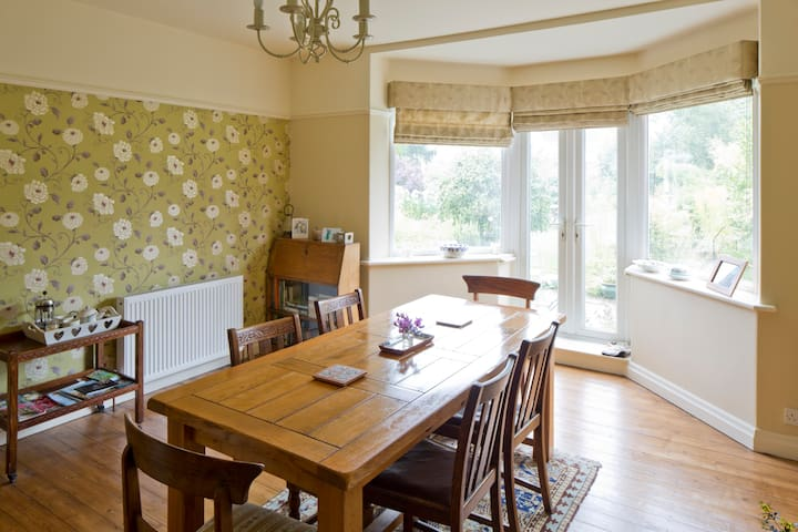 our south facing dining room for sunny breakfasts