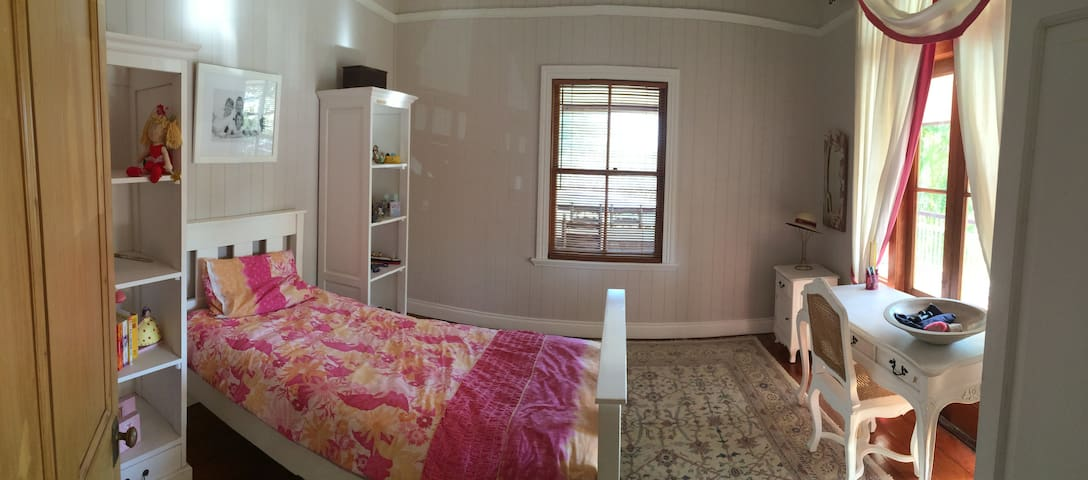 Bedroom in Classic Queenslander in Hawthorne