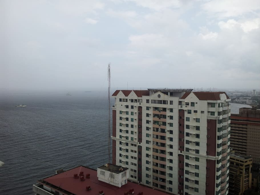 View from terrace, Manila bay, east