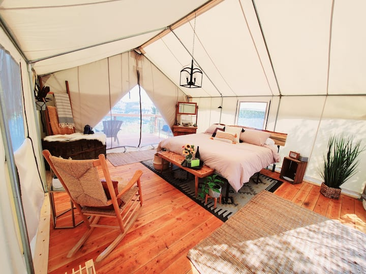 Cloth Camp - A North Idaho Wall Tent Getaway