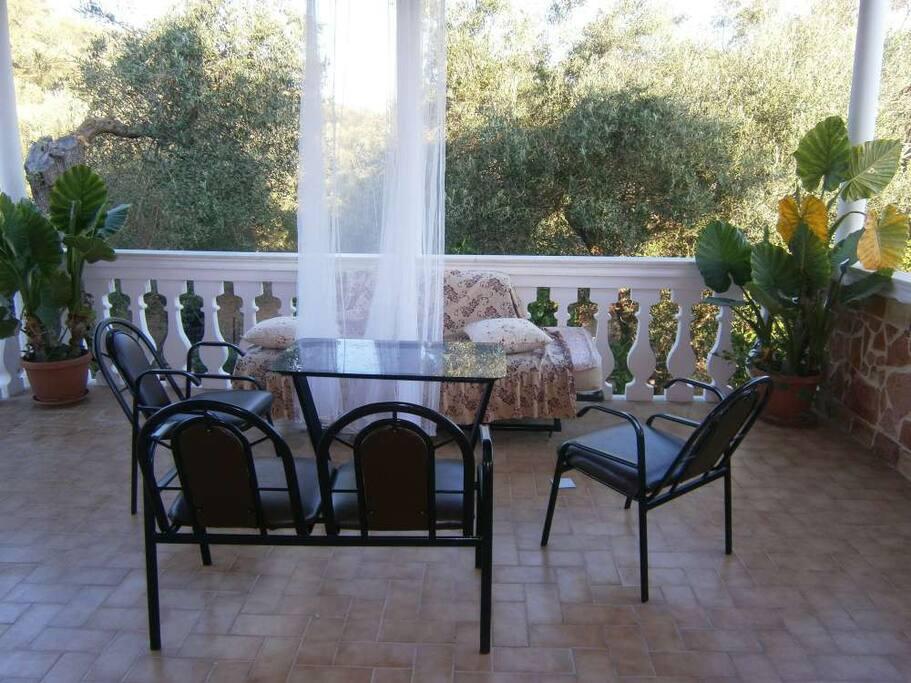 Veranda with beautiful panoramic view