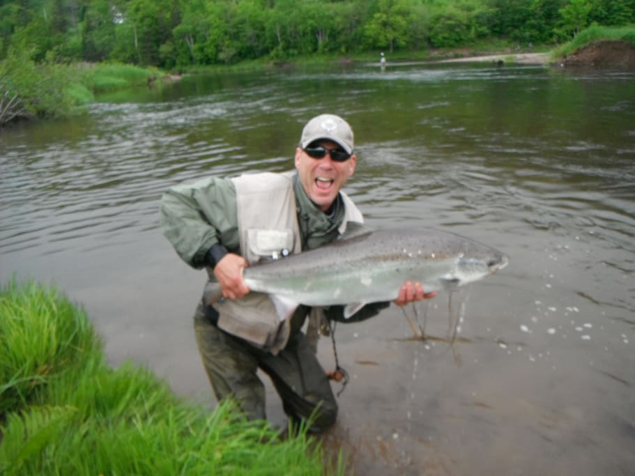 Margaree River Salmon Fishing Vacation Trailer Campers