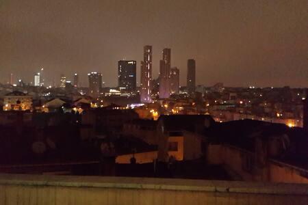 Roof flat,Amazing City view,Barbeku - şişli okmeydanı