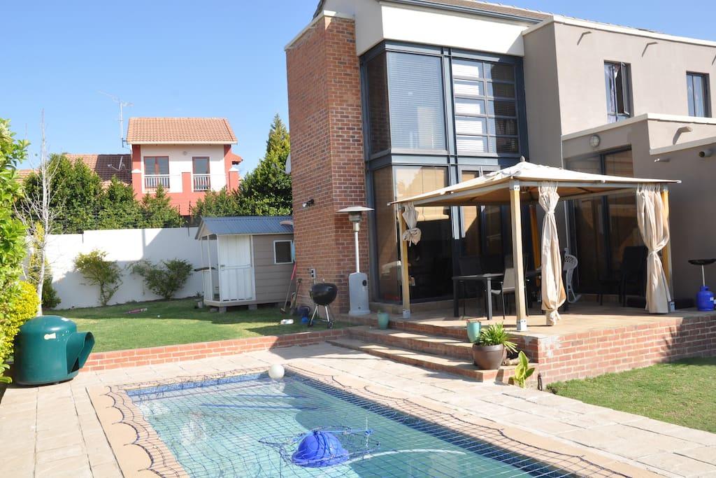Spacious yard and cool swimming pool