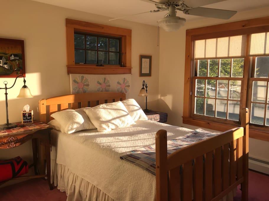 Bedroom in morning