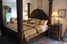 Beautiful European King Master Suite with Down Blankets, Pillows, Organic Sheets, and Designer Memory Foam Bed!