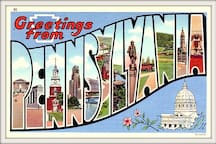 Greetings from Pennsylvania! I'm so glad to be your host while you stay with me!