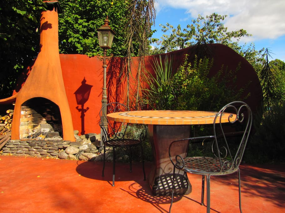 Enjoy the outside fire on the private terrace.
