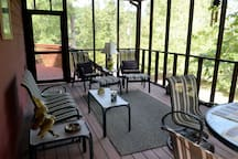 Private and Secluded Screen Porch off Main Living Area