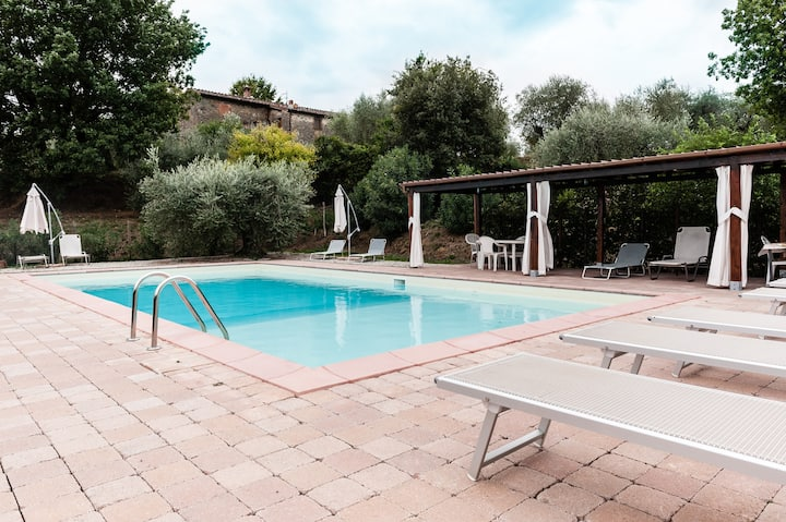 Casale Maggese with pool and ac