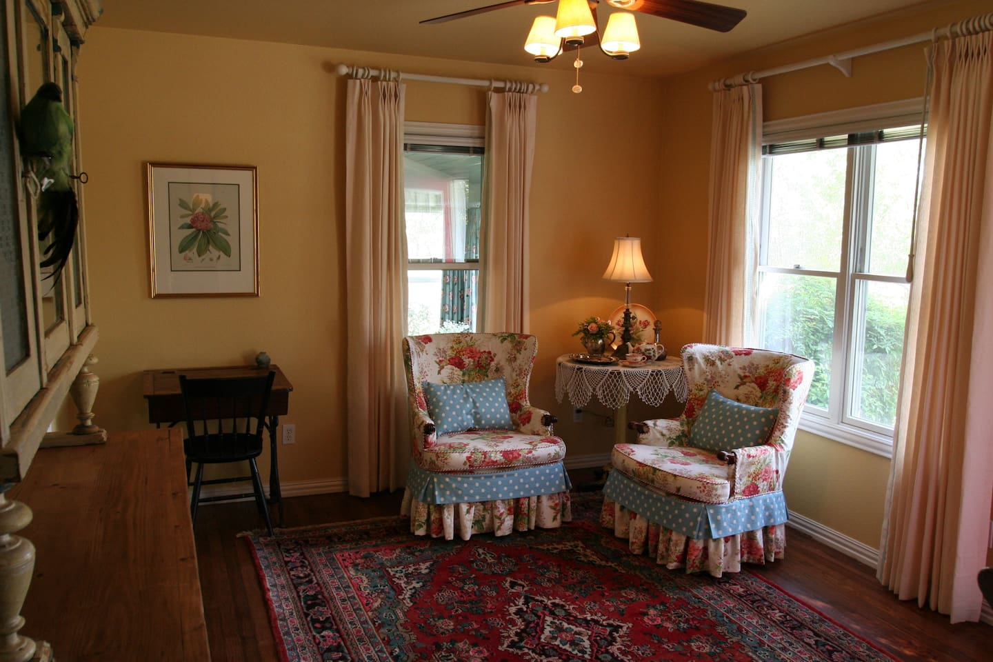 Great room to sit and talk with a loved one or read a good book!