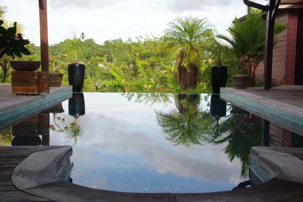 Bungalow piscine d tente confort chambres d 39 h tes for Bungalow avec piscine martinique