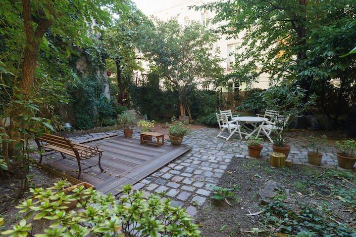 Chambre, azulejos, jardin & verdure