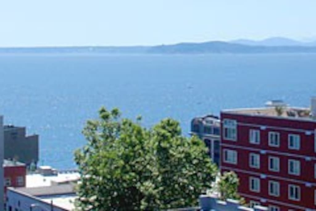 View from rooftop terrace. Watch the ferries come and go while enjoying a glass of wine or cup of coffee