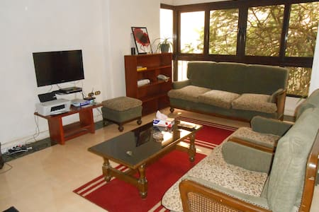 Welcome to Maadi, one of the quietest neighborhood of Cairo. 3 bedrooms apartment, with guests toilets, shared bathroom, wide kitchen, dinner & living room.  5 minutes far from metro station & corniche by taxi, walking distance from Grand Mall!