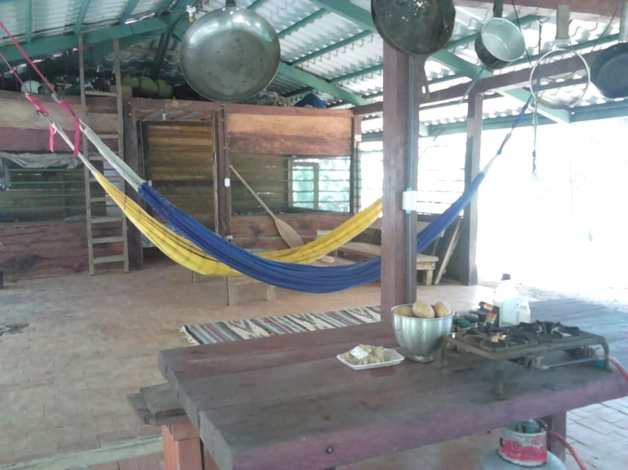 Alex's Place, Miramar, Panama. Open social areas in house