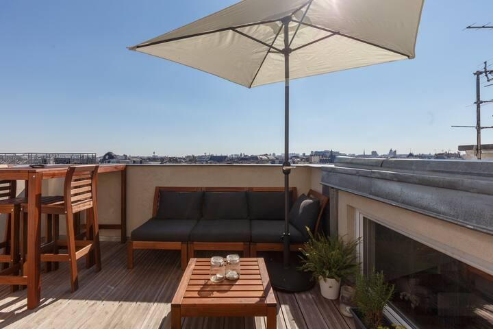 Designer loft with panoramic rooftop Paris center - Parigi - Loft