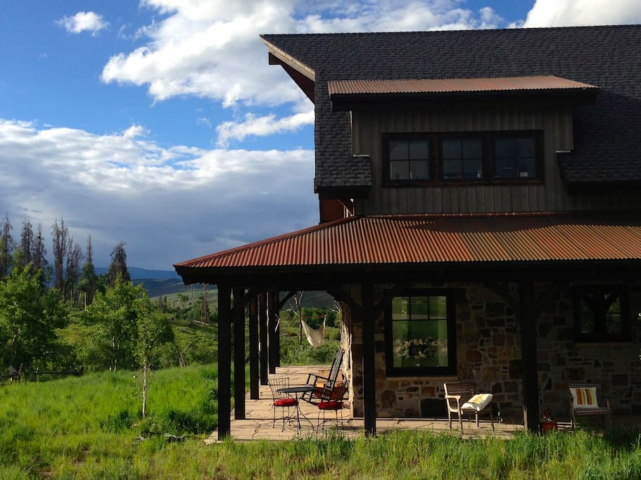 Wrap around porch 360 degree views.