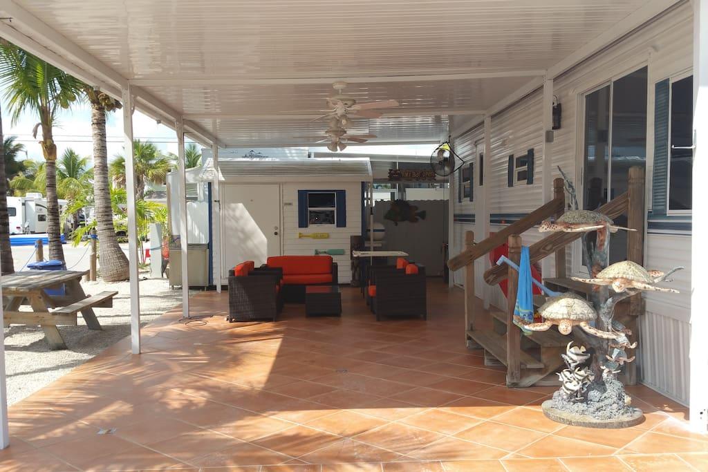 Lounge outside, enjoy the nice Florida Keys weather