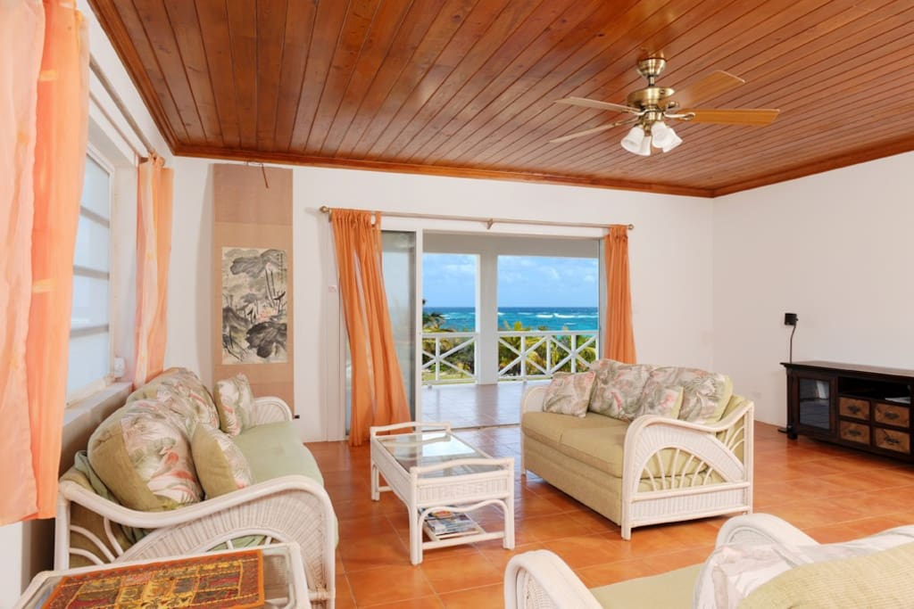 The great room with ocean views